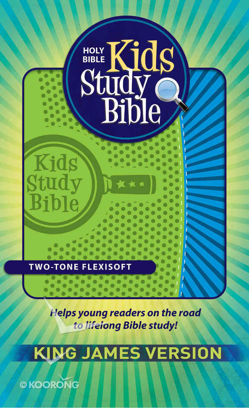 KJV Kids Study Bible Green/Blue Flexisoft Imitation Leather