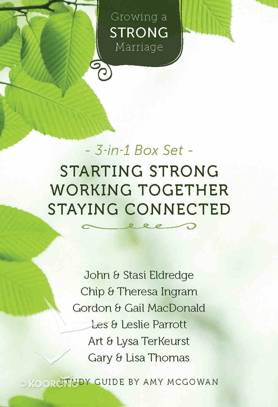 Growing a Strong Marriage 3-In-1 Box Set (3 Study Guides & 3 Dvds) Pack