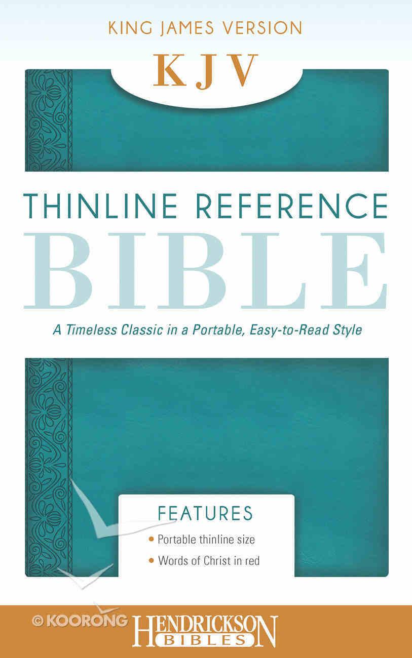 KJV Thinline Reference Bible Aquamarine Flexisoft Imitation Leather