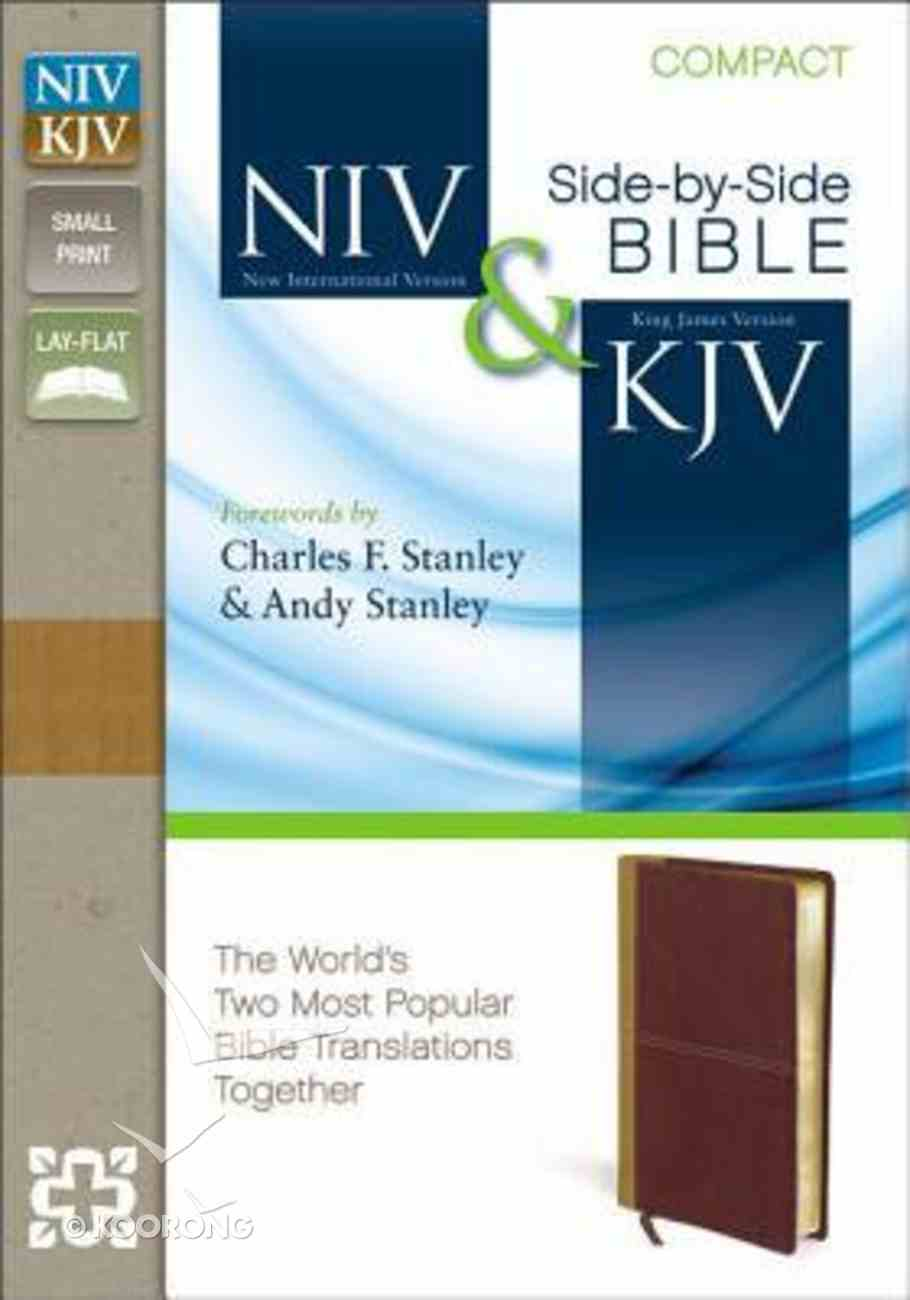 Niv/Kjv Side By Side Bible Compact Camel/Rich Red (Black Letter Edition) Premium Imitation Leather