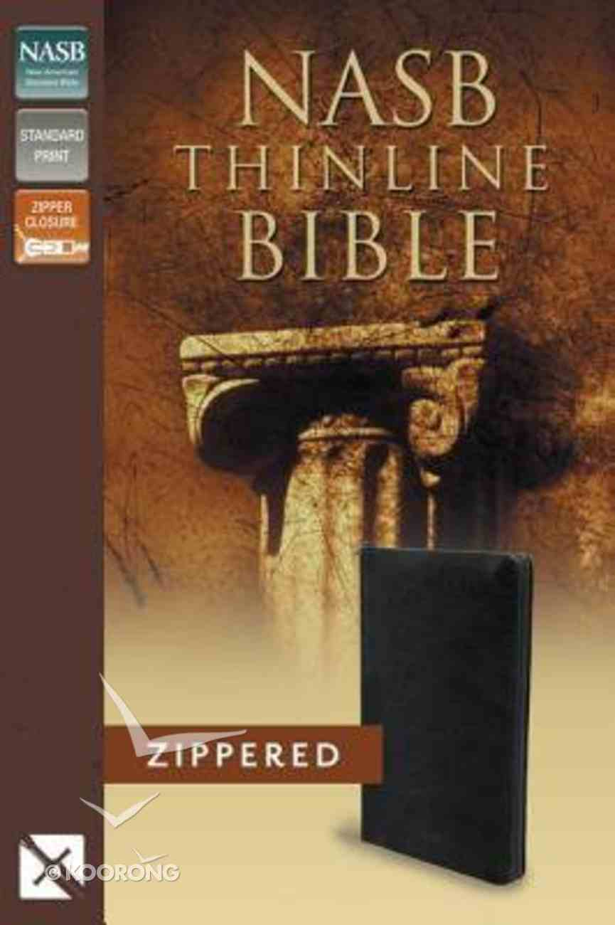 NASB Thinline Zippered Bible Black (Red Letter Edition) Bonded Leather