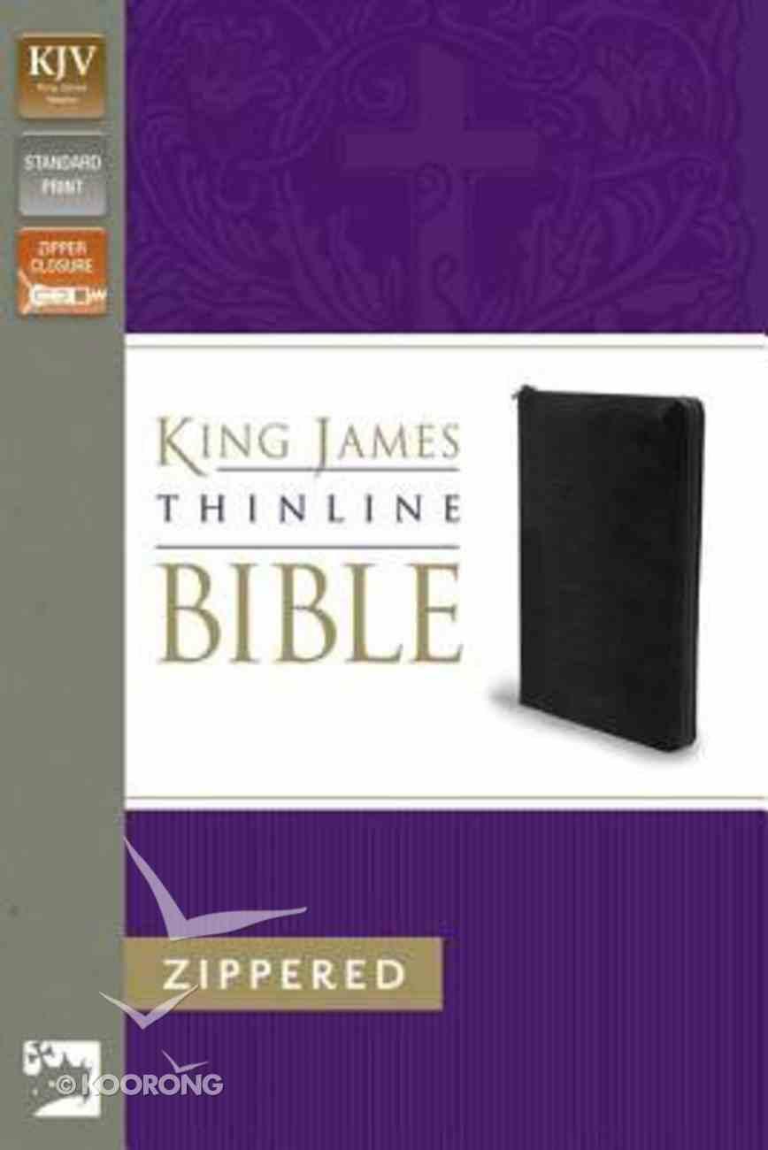 KJV Thinline Zippered Bible Black (Red Letter Edition) Imitation Leather