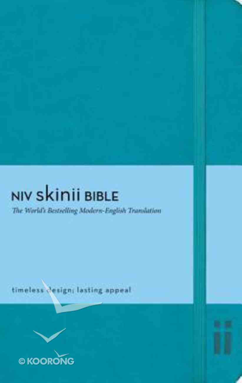 NIV Skinii Bible Italian Duo-Tone Turquoise (Red Letter Edition) Imitation Leather