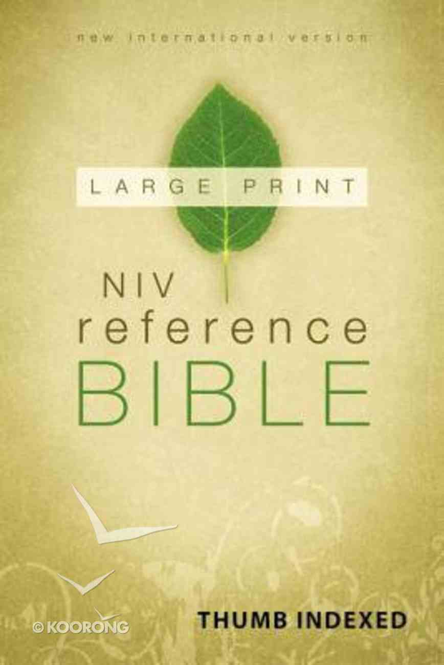 NIV Reference Bible Large Print Indexed (Red Letter Edition) Hardback