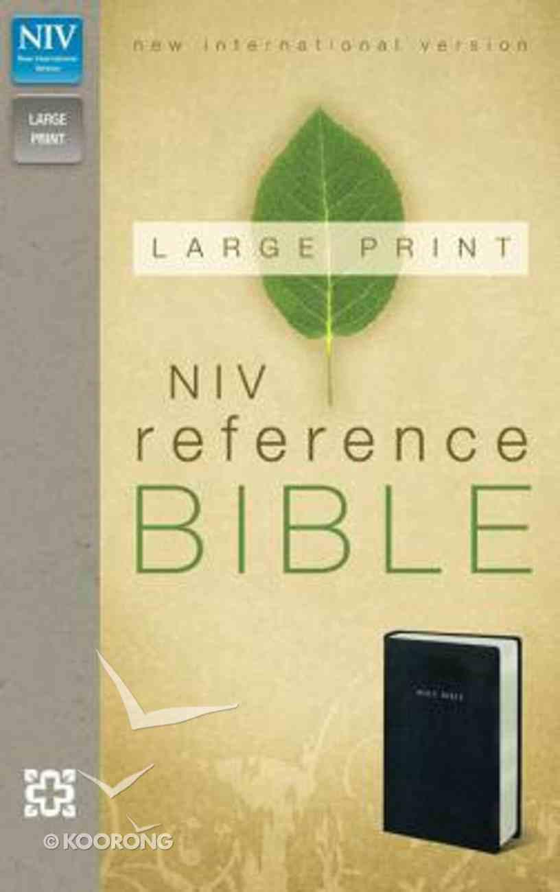 NIV Large Print Reference Black (Red Letter Edition) Imitation Leather