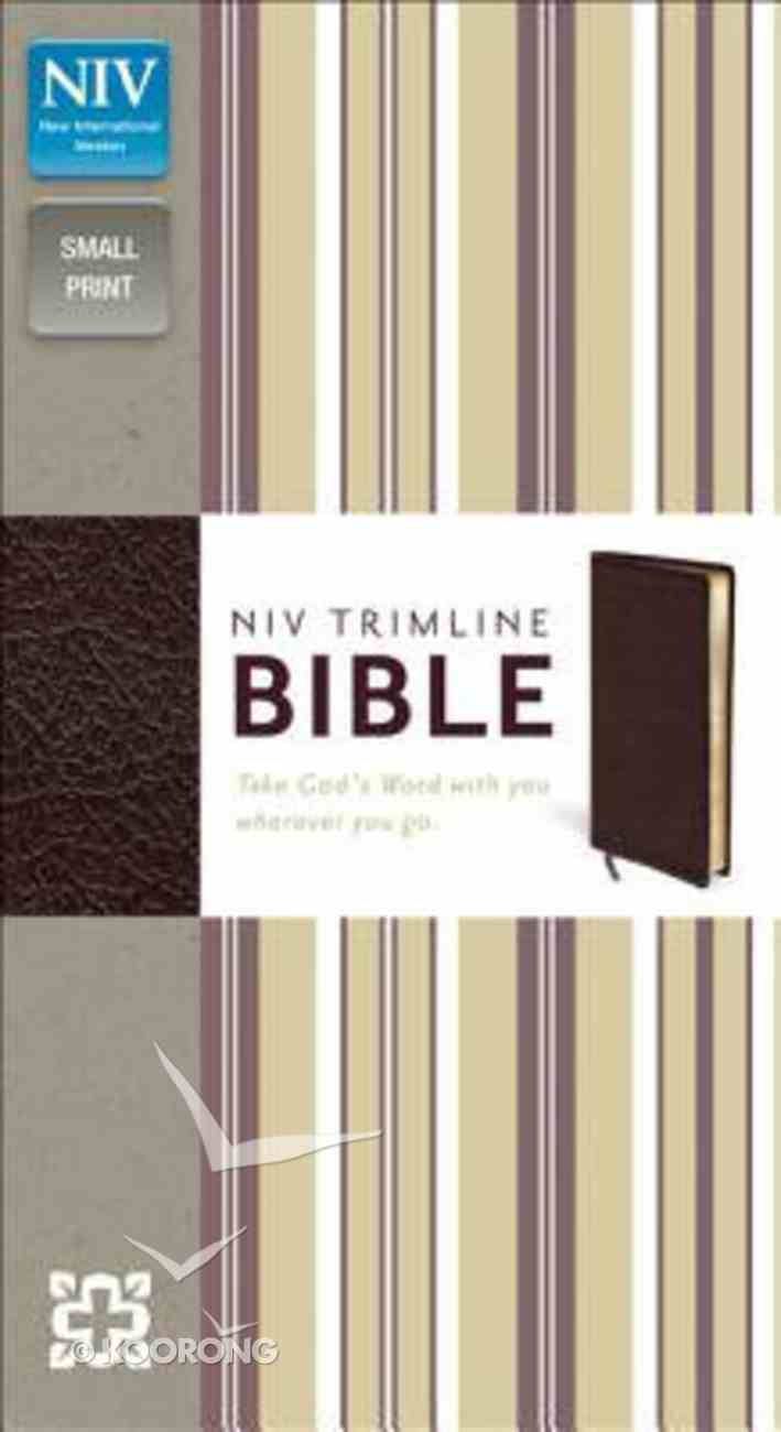 NIV Trimline Bible Burgundy (Red Letter Edition) Bonded Leather