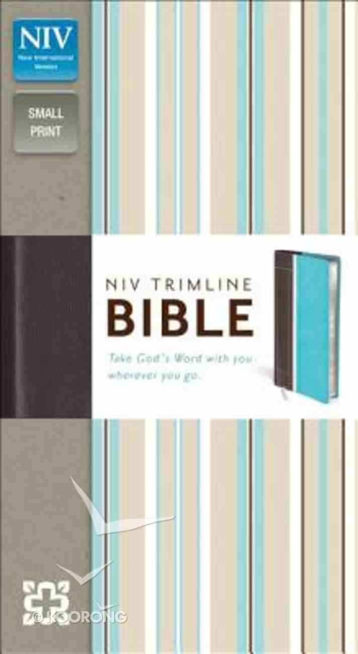 NIV Trimline Bible Turquoise Chocolate Duo-Tone (Red Letter Edition) Imitation Leather