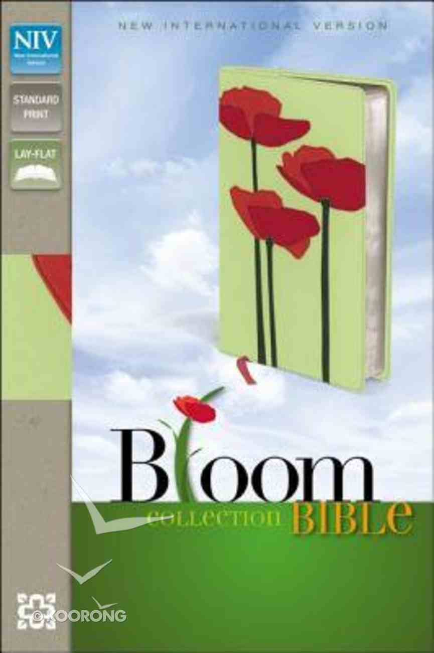 NIV Thinline Bloom Collection Bible Red Poppies (Red Letter Edition) Imitation Leather