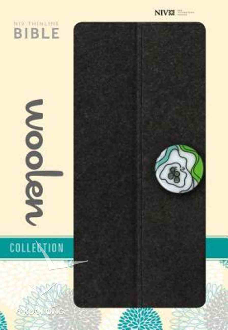 NIV Thinline Woollen Bible Grey (Red Letter Edition) Fabric