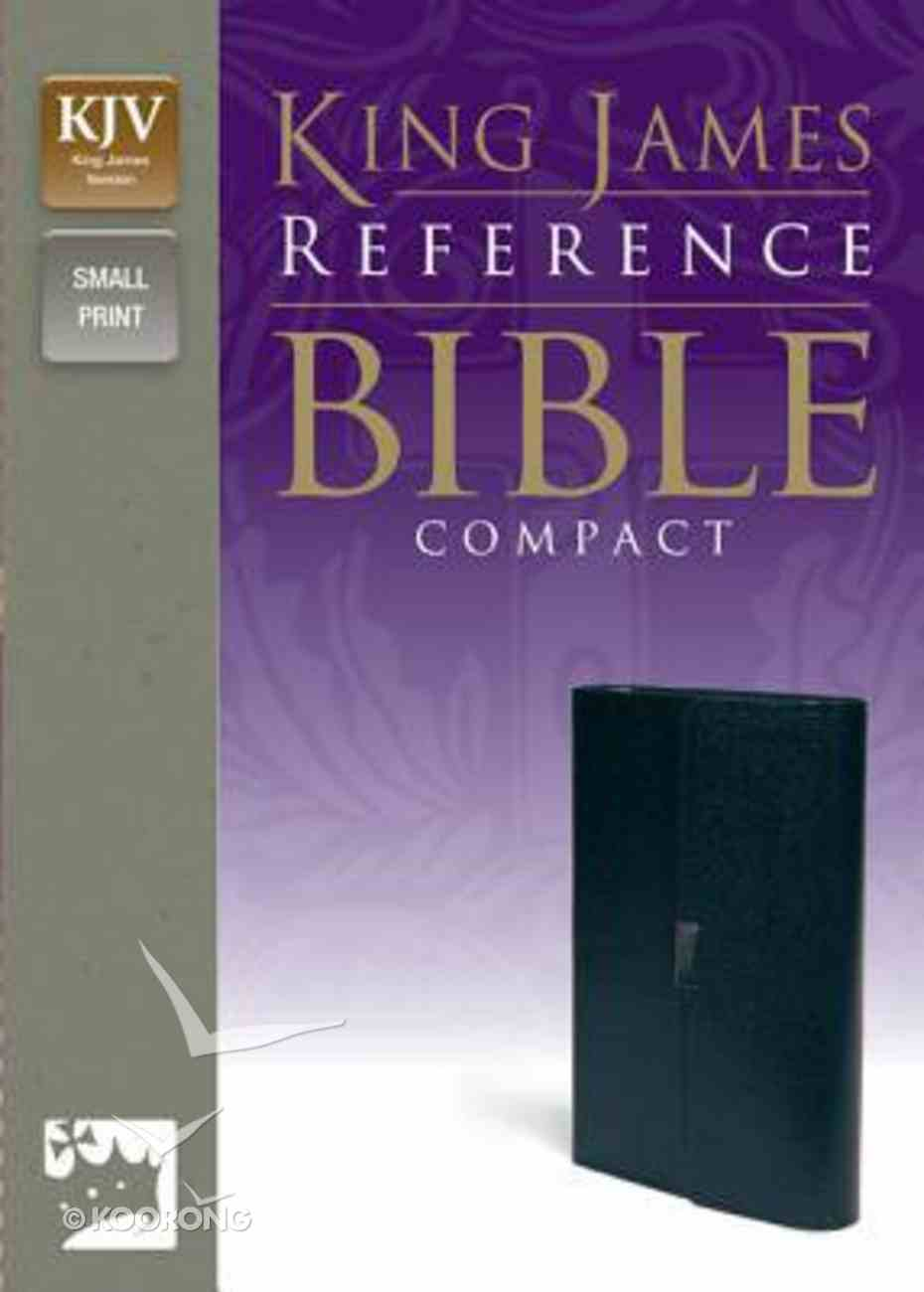 KJV Reference Compact Bible Button Flap Navy (Red Letter Edition) Bonded Leather