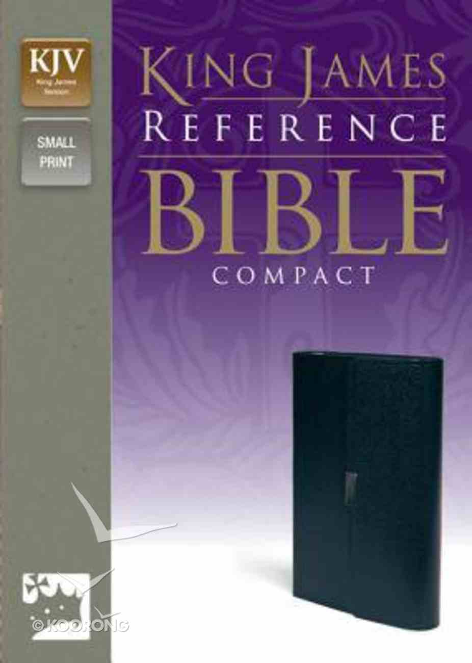 KJV Reference Compact Bible Button Flat Navy (Red Letter Edition) Bonded Leather