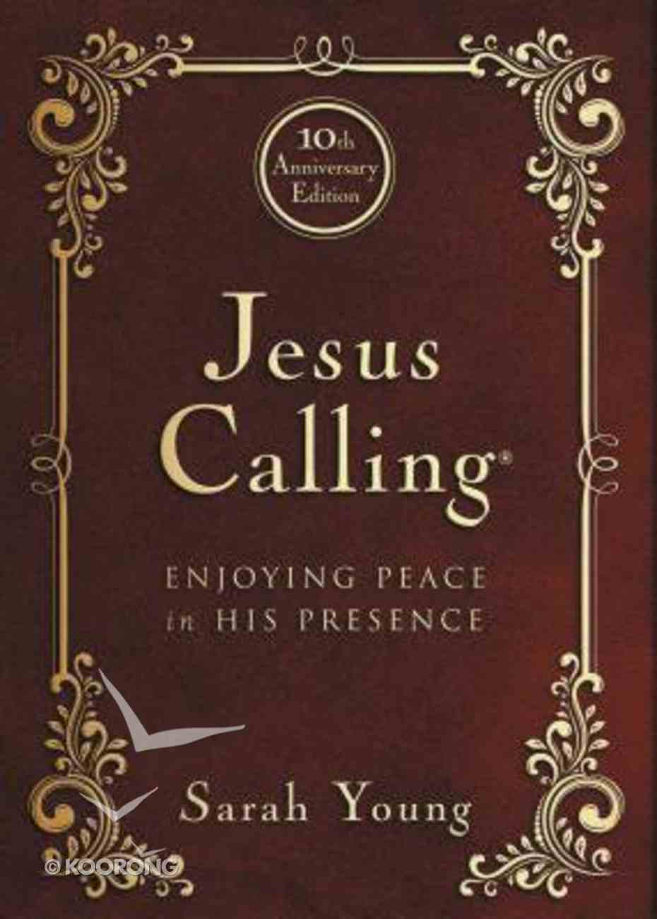 Jesus Calling (10th Anniversary Expanded Edition) Bonded Leather