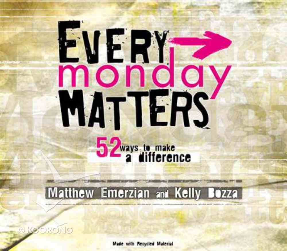 Every Monday Matters (With Dvd) Paperback