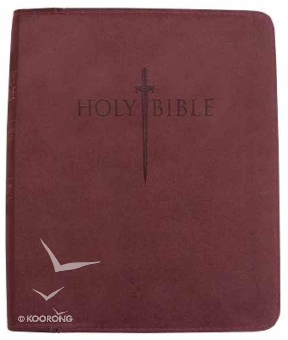 Kjver Sword Study Personal Size Large Print Bible Burgundy Ultrasoft Imitation Leather