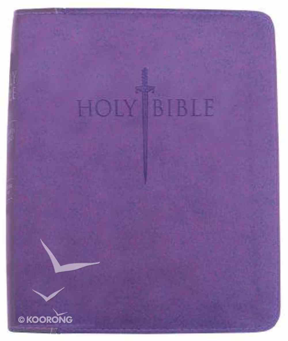 Kjver Sword Study Personal Size Large Print Bible Purple Ultrasoft Imitation Leather