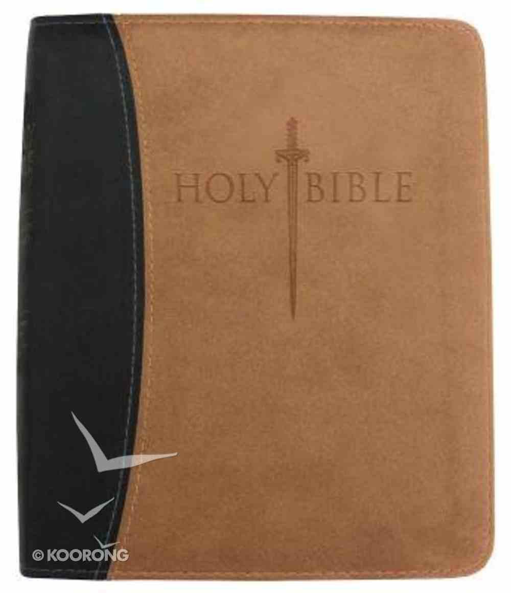 Kjver Thinline Personal Size Black/Tan Ultrasoft Imitation Leather