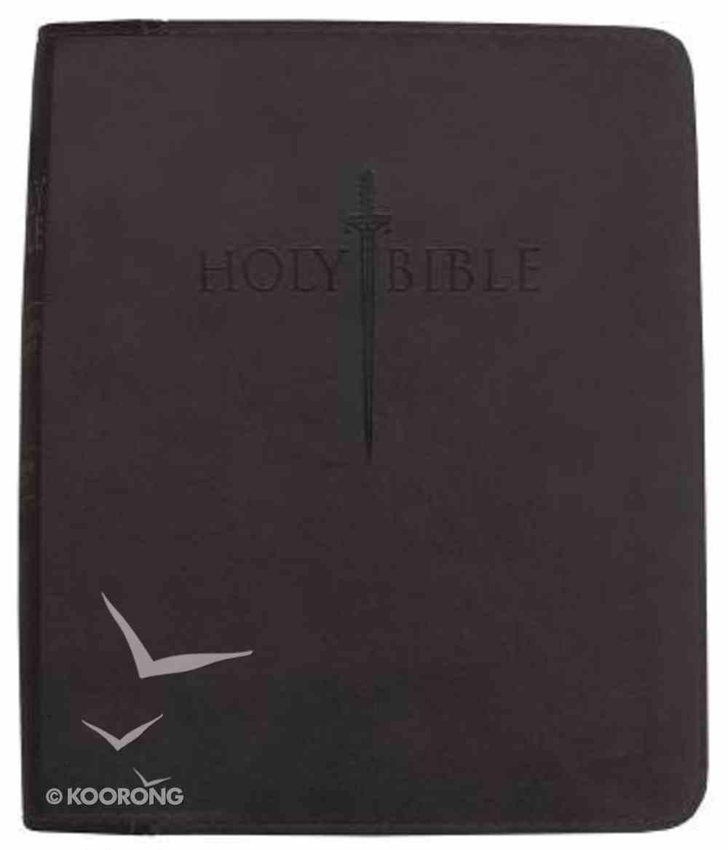 Kjver Thinline Large Print Black Imitation Leather