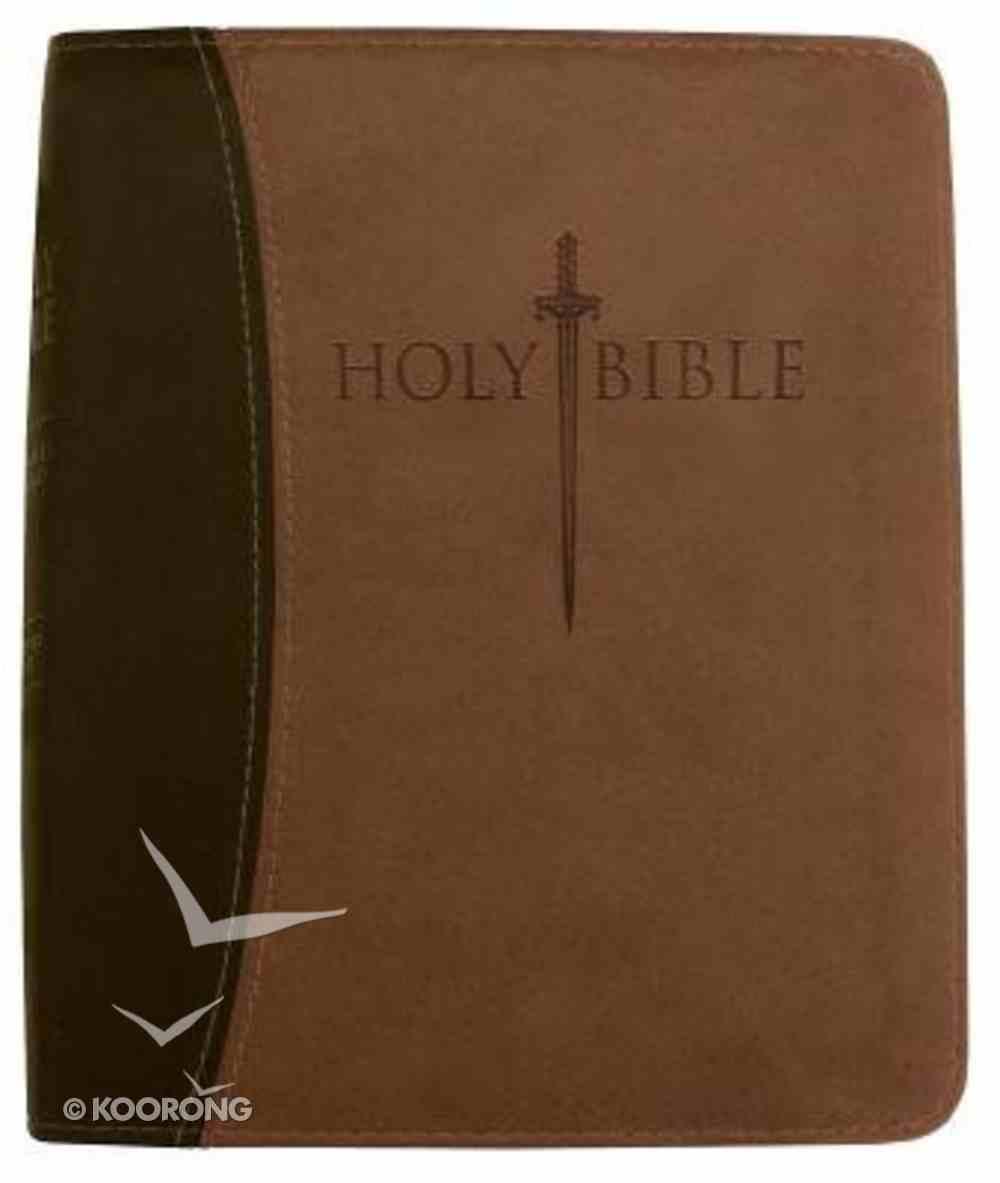 KJV Sword Study Personal Size Giant Print Dark/Light Brown Imitation Leather
