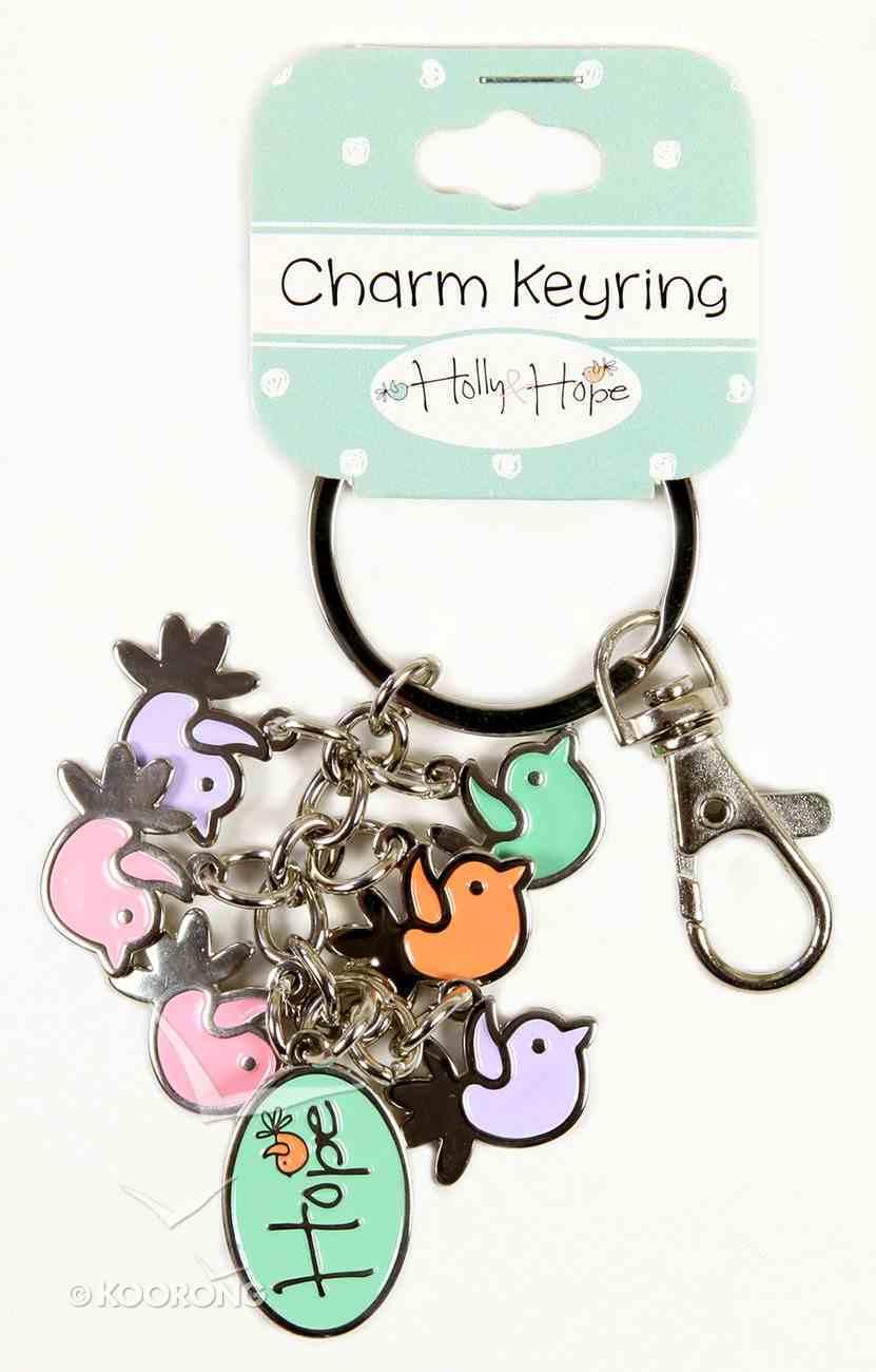 Holly & Hope Metal Charm Keyring: Birds Jewellery