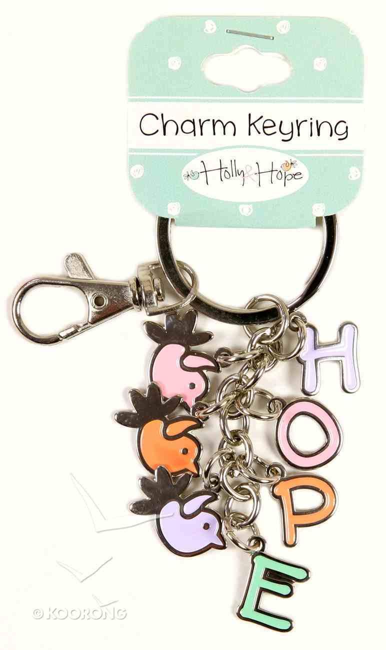 Holly & Hope Metal Charm Keyring: Hope/Birds Jewellery