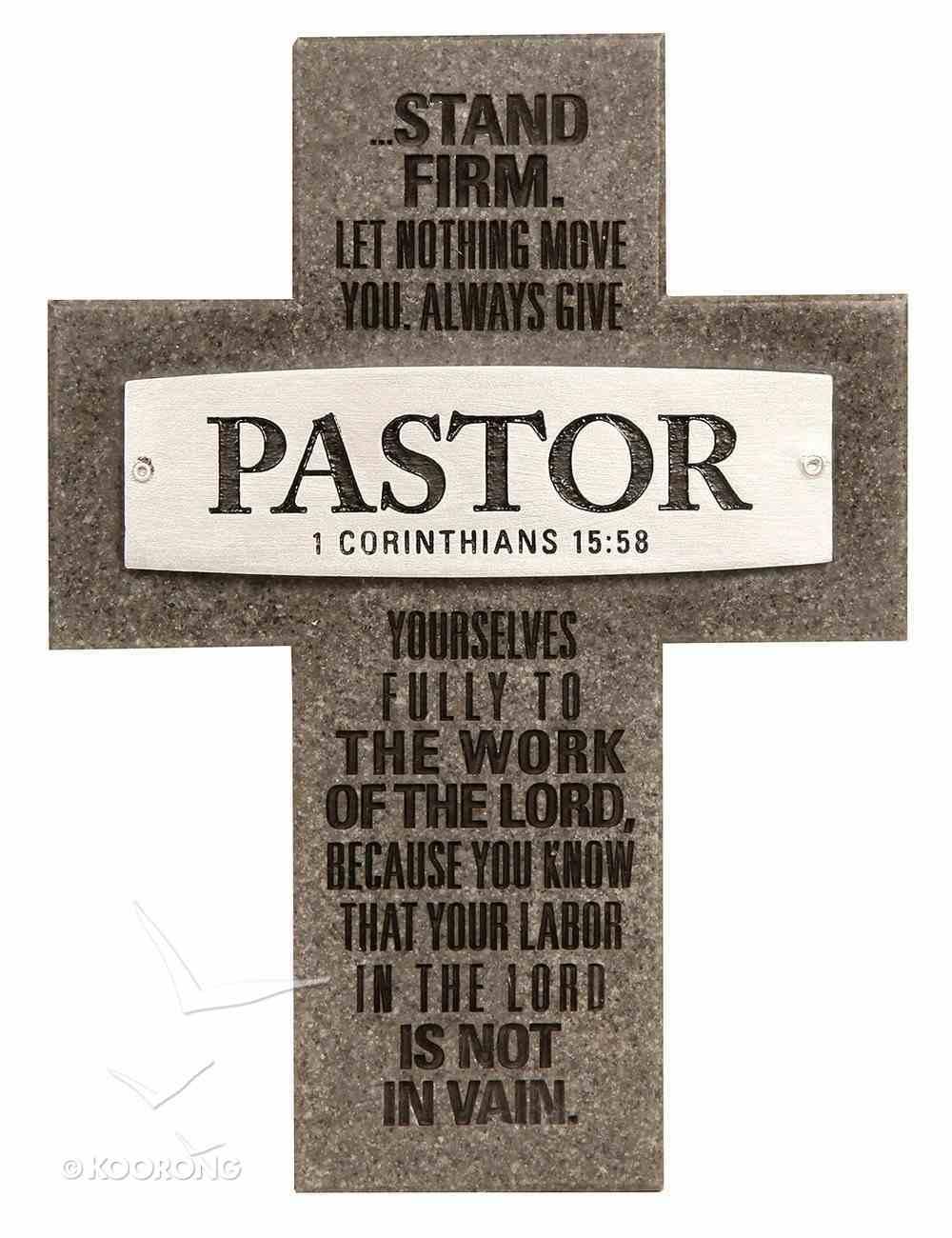 Plaque Cross: Pastor Badge of Faith (12cm X 15cm) Plaque