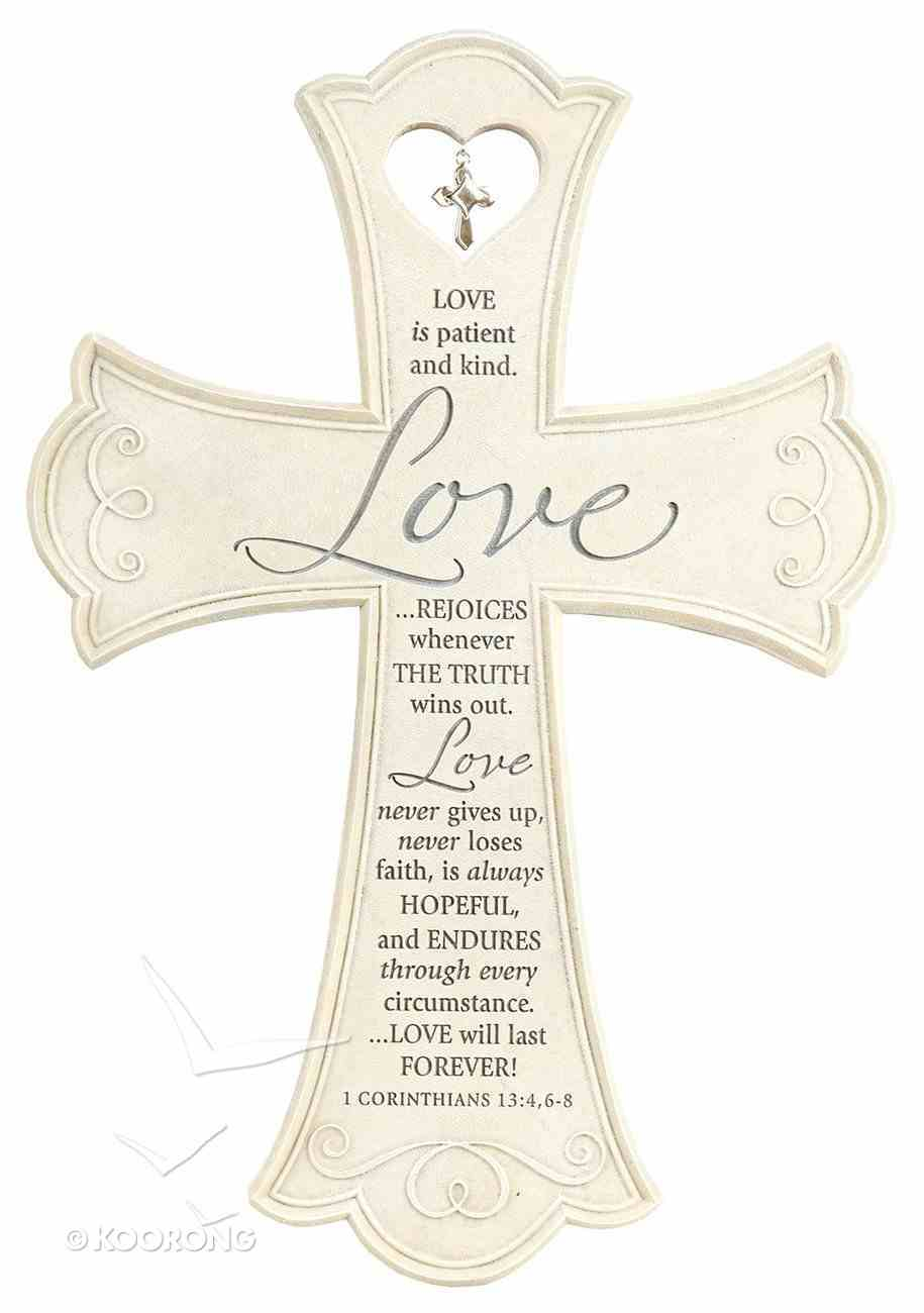 Wall Cross: Love is Large (36cm X 26xm) Plaque