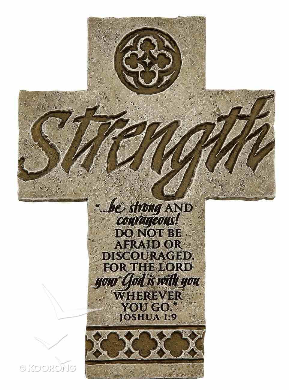 Cross Desktop: Strength (15cm X 10cm) Plaque