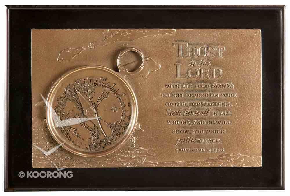 Moments of Faith Sculpture Box: Compass (Proverbs 3:5-6) Homeware
