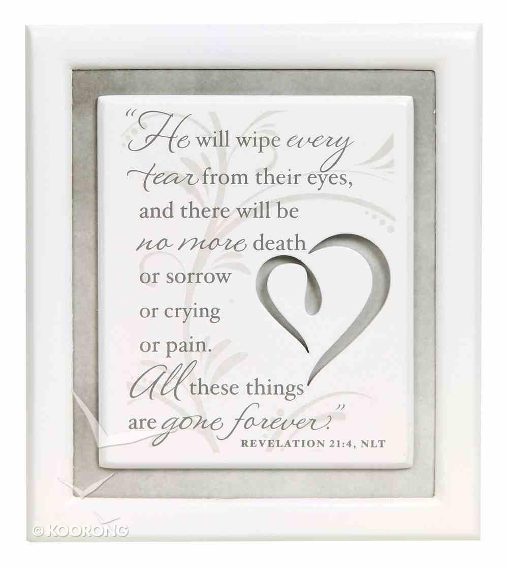 Plaque: Remember/Sympathy No More Tears (10cm X 12cm) Plaque