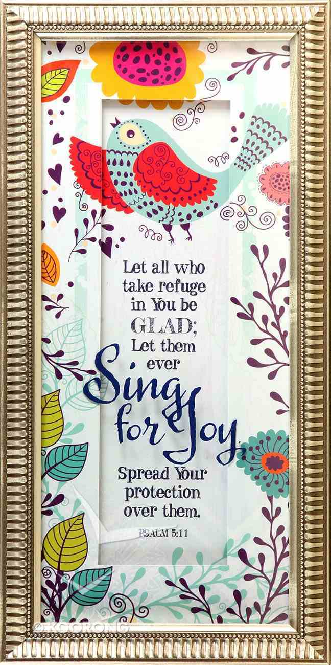 Words of Grace Framed Plaque: Sing For Joy Plaque
