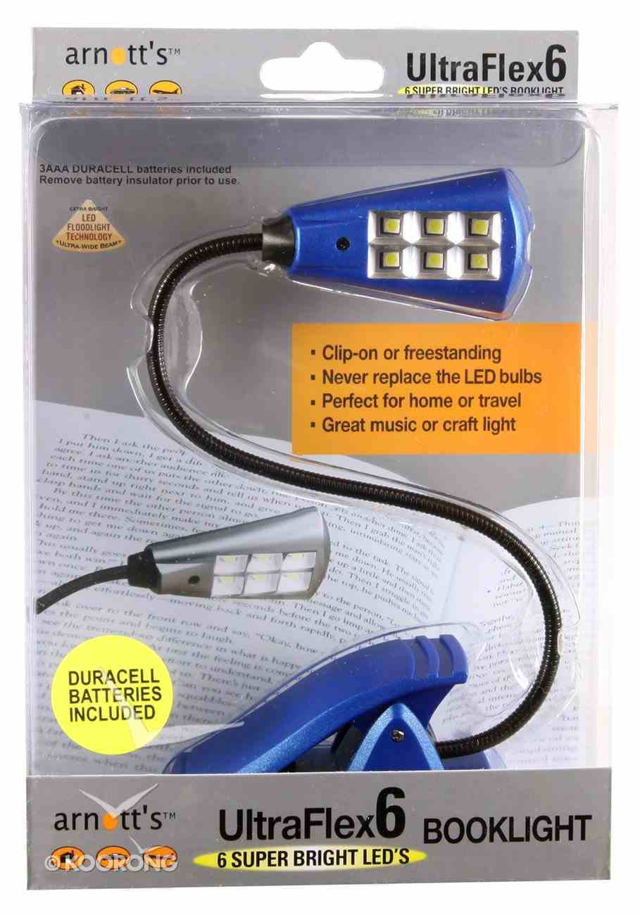 Ultraflex6 Booklight With 6 Super Bright Led's Blue Novelty