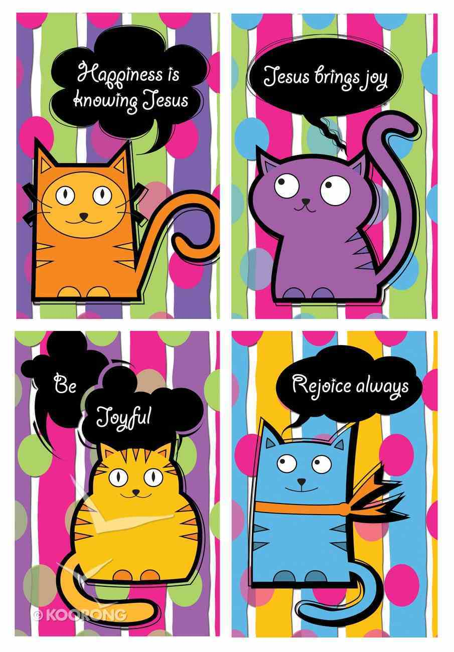 Notepad Set of 4: Kitty Cats Series With Scripture Stationery