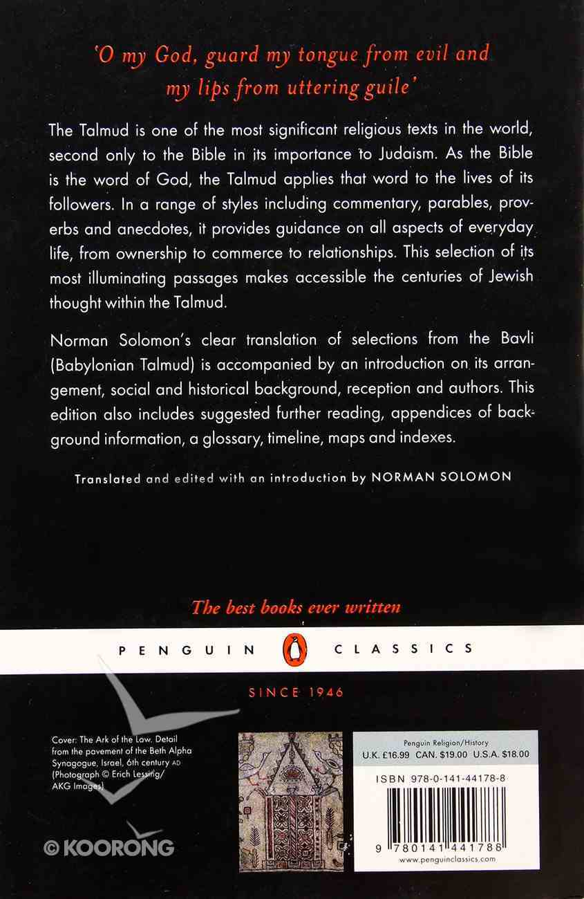 The Talmud: A Selection (Penguin Black Classics Series) Paperback