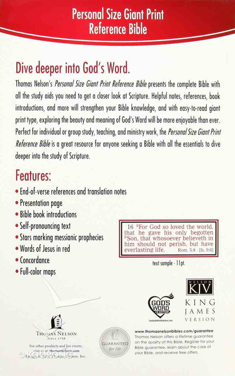 KJV Personal Size Giant Print Reference Bible (Essentials) Imitation Leather