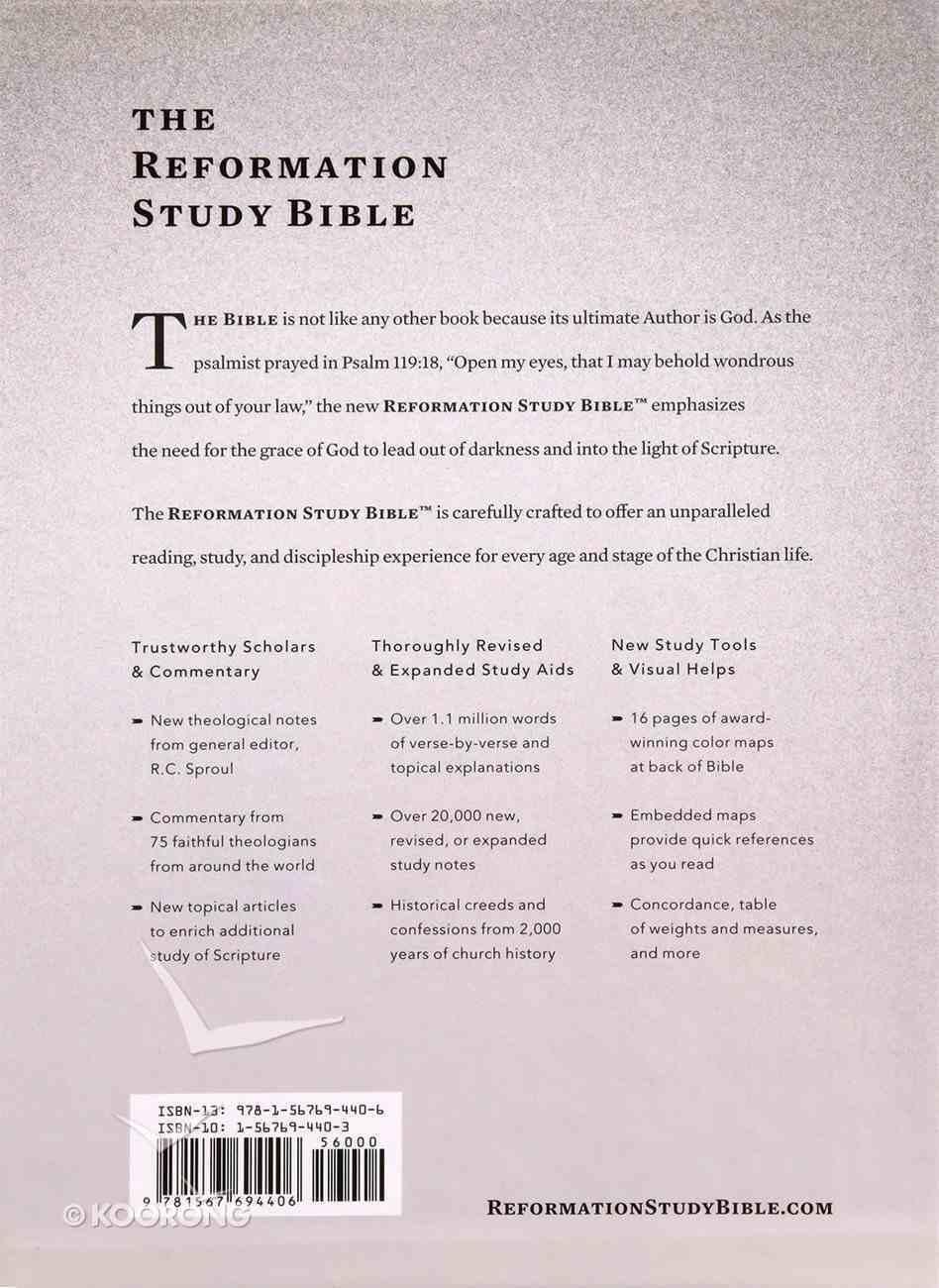 ESV the Reformation Study Bible Silver/White Hardback