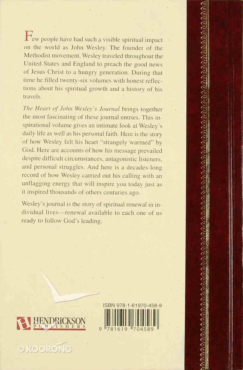The Heart of John Wesley's Journal (Hendrickson Classic Biography Series) Hardback
