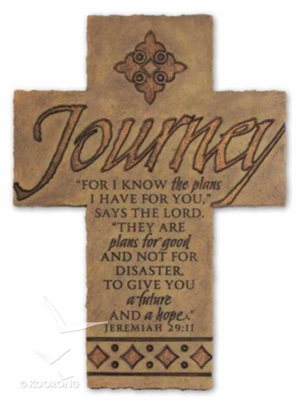 Wall Cross: Journey Large (36cm X 26cm) Plaque