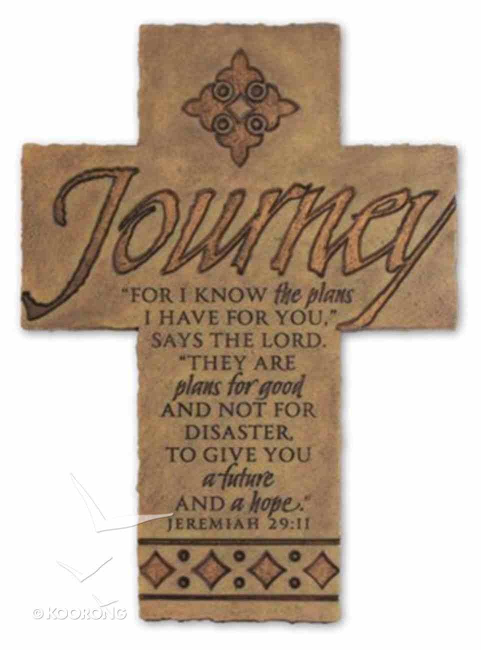 Wall Cross: Journey Large (36cm X 26cm) Plaque