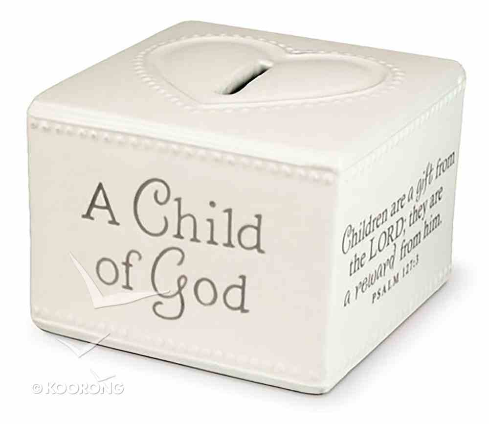 Baby Child of God: Money Box White (Psalm 127:3) Homeware