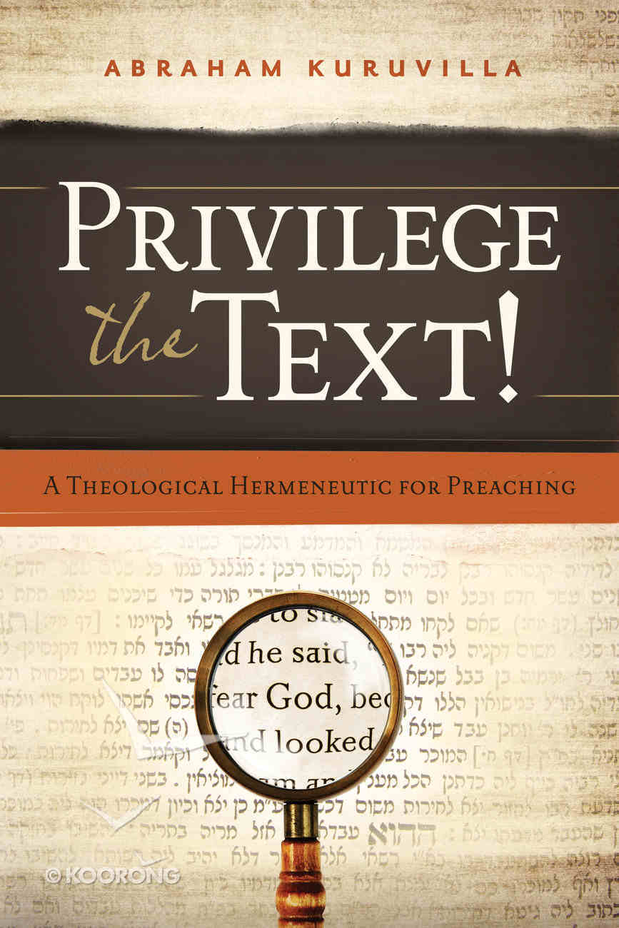 Privilege the Text! Paperback