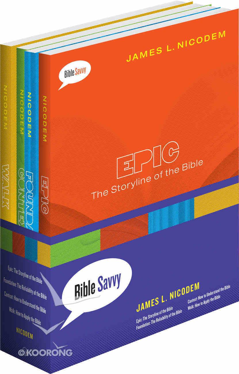 Savvy Set of 4 Books (Epic, Foundation, Context & Walk) (Bible Savvy Series) Box
