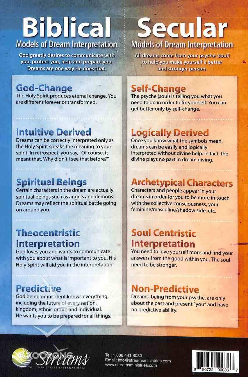 Study Card: Biblical Vs. Secular Model of Dream Interpretation (22.5 X 15cm) Cards