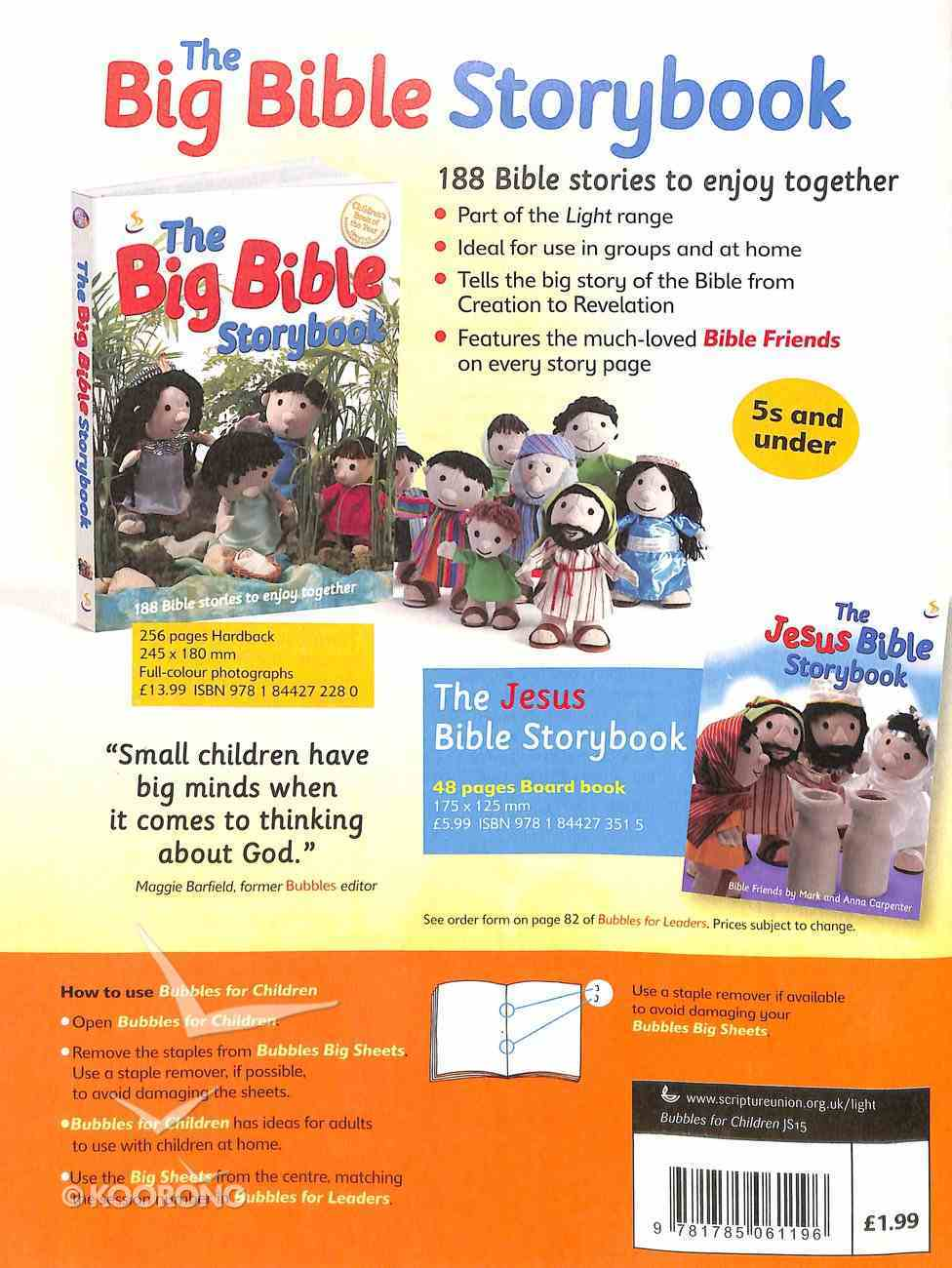 Light: Bubbles 2015 #03: Jul-Sep Student's Guide (5 And Under) Paperback