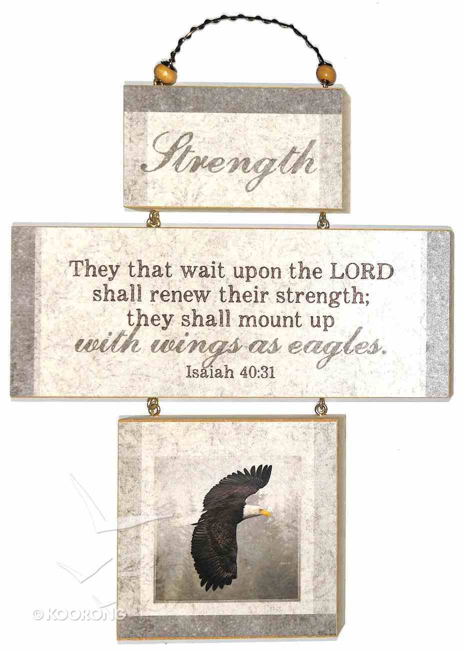Cross Shaped Three Piece Mdf Wall Plaque: Strength, Isaiah 40:31 (Crosswords) Plaque