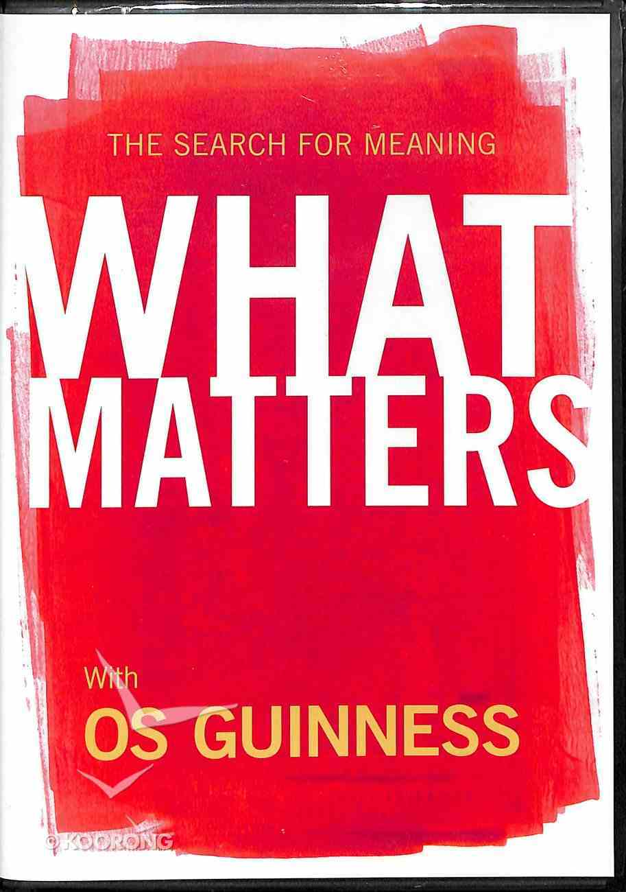Search For Meaning: What Matters DVD