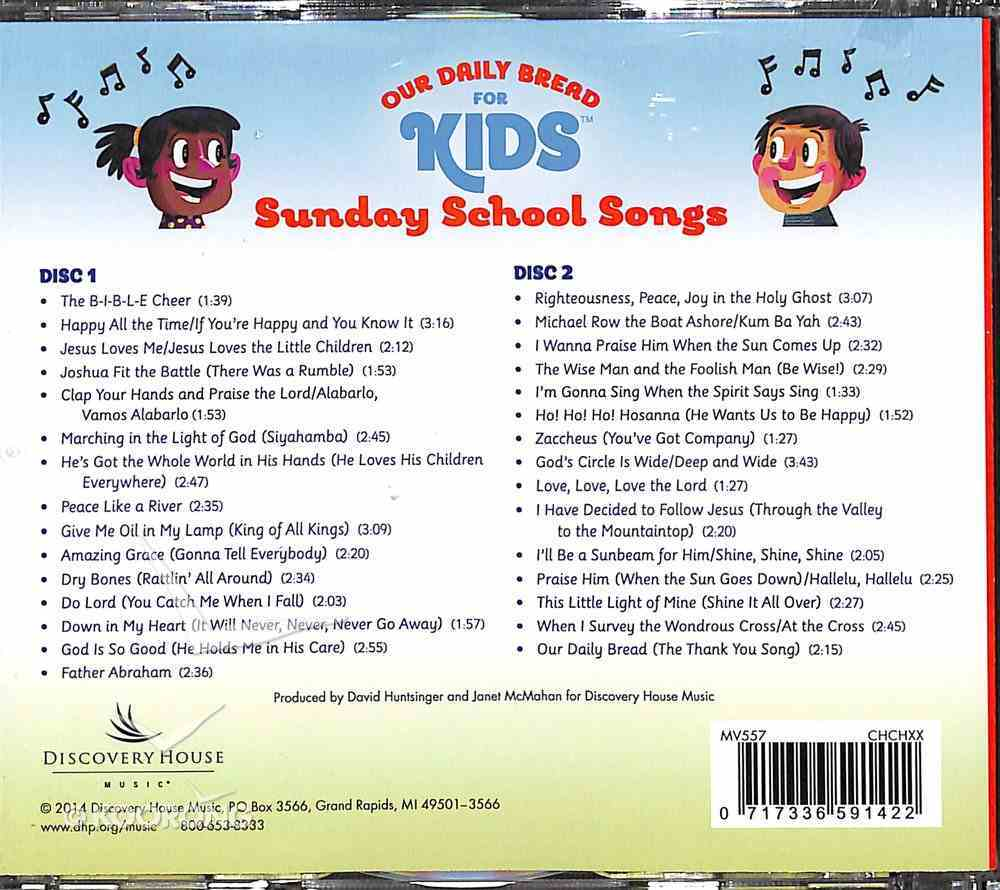 Sunday School Songs (Our Daily Bread For Kids Series) CD