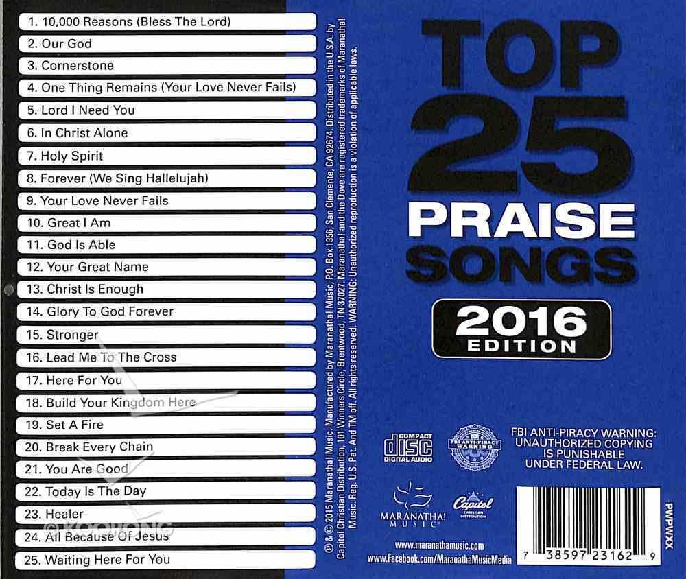 Top 25 Praise Songs 2016 (2cds) CD