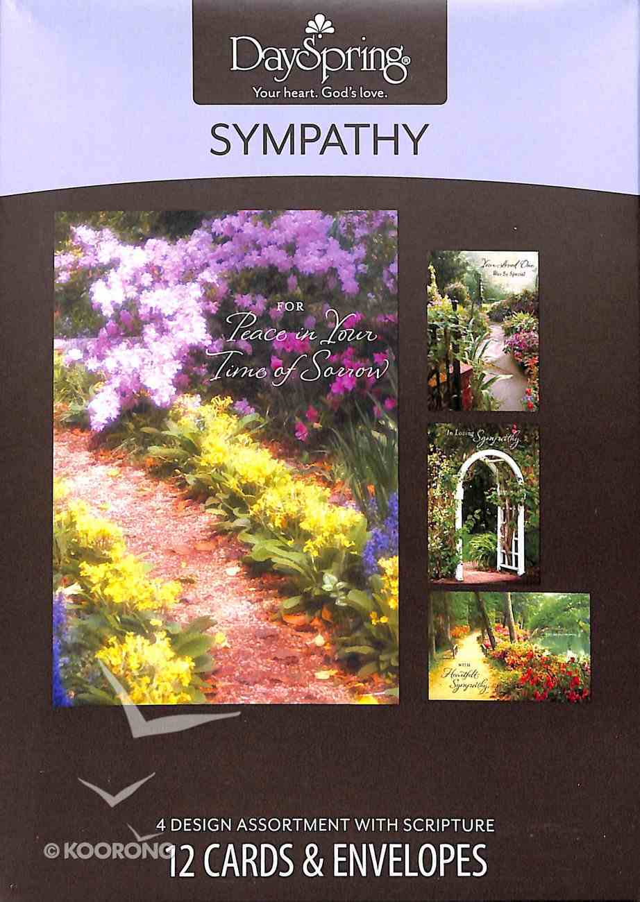 Boxed Cards Sympathy: Peaceful Paths Box