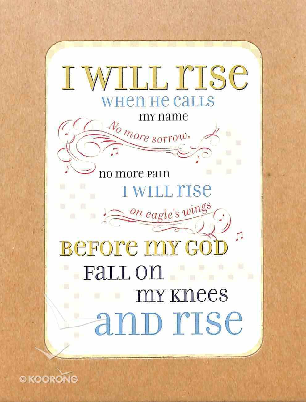 Boxed Notes Lyrics For Life: I Will Rise, Ephesians 3:20 Box