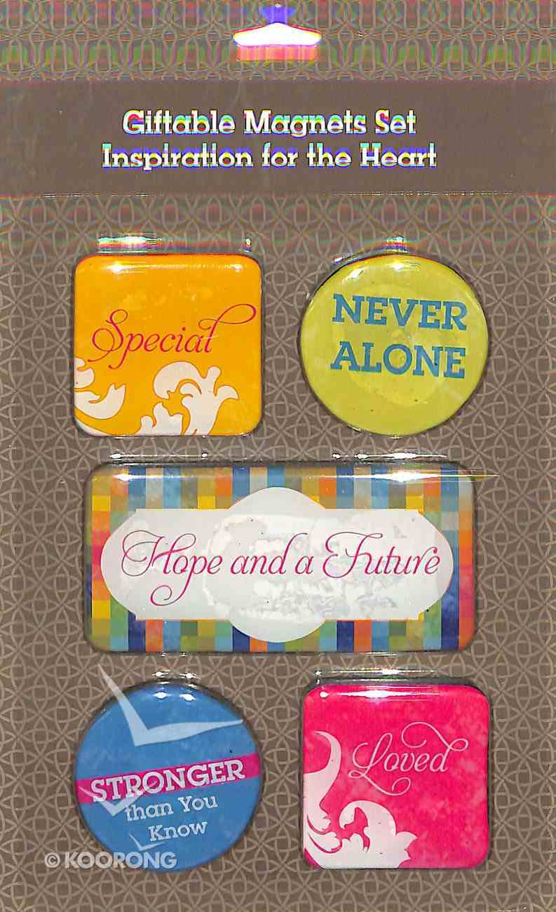 Magnetic Set of 5 Magnets: Inspiration For the Heart Novelty